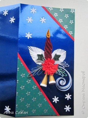 Доброго время суток дорогие Мастерицы!  В полном разгаре идёт подготовка подарков к Новому году. Начала с открыток. Приглашаю Вас посмотреть  на  результаты  моих трудов! Размер открыток 10Х15, 10Х19. Покажу каждую отдельно. фото 7