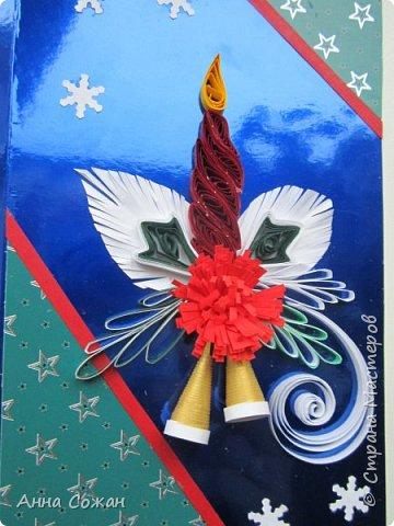 Доброго время суток дорогие Мастерицы!  В полном разгаре идёт подготовка подарков к Новому году. Начала с открыток. Приглашаю Вас посмотреть  на  результаты  моих трудов! Размер открыток 10Х15, 10Х19. Покажу каждую отдельно. фото 8