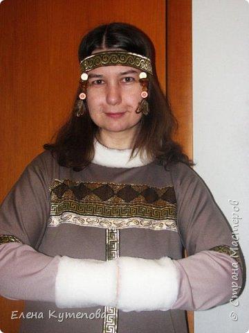 """Буду проводить в школе зимний праздник """"Северное сияние"""". И для него сшила себе вот такое платье девушки севера.  фото 1"""