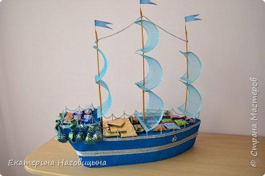 Представляю свою работу. Сладкий корабль с отсеком для игристого внутри. фото 2