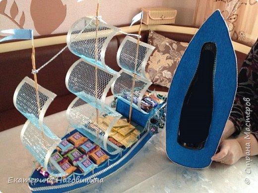 Представляю свою работу. Сладкий корабль с отсеком для игристого внутри. фото 8