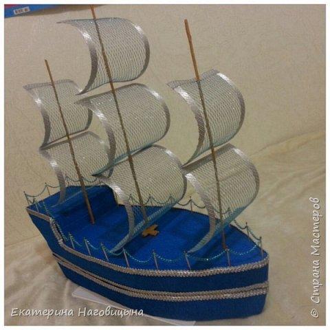 Представляю свою работу. Сладкий корабль с отсеком для игристого внутри. фото 7