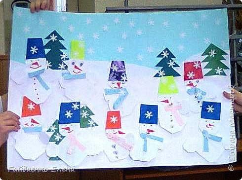 Делали с детьми 9 лет снеговичков. Это результат работы одной группы: фото 2