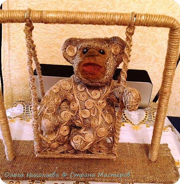 Вот такая обезьянка на качелях у нас получилась. фото 1