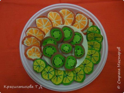 Фруктовый десерт из пластилина фото 11
