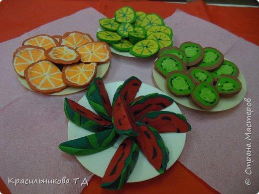 Фруктовый десерт из пластилина фото 13