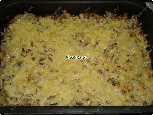 Добрый вечер! Предлагаю рецепт запеканки из картофеля и шампиньонов. -1 луковица -7 картофелин среднего размера -шампиньоны большая ж/б -любимая приправа для картофеля (у меня камис) -сметана 300г -соль по вкусу -растит.масло для смазывания формы -сыр 200г фото 9