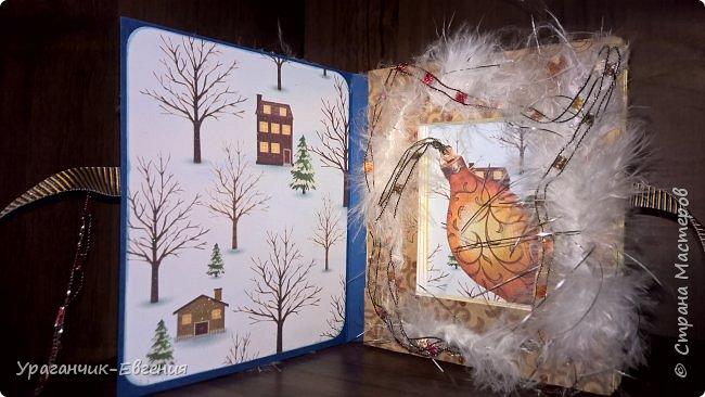 Новогодняя коробочка для маленького подарка. фото 6