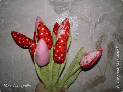Текстильные тюльпаны фото 1