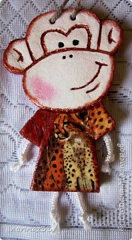 Добрый день!!! В этом году у меня получились вот такие новогодние сувениры.  45 обезьянок. фото 12