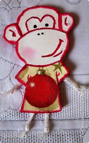 Добрый день!!! В этом году у меня получились вот такие новогодние сувениры.  45 обезьянок. фото 13