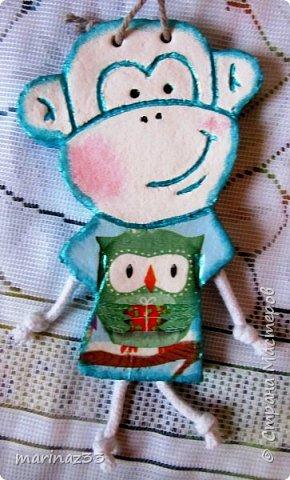 Добрый день!!! В этом году у меня получились вот такие новогодние сувениры.  45 обезьянок. фото 14