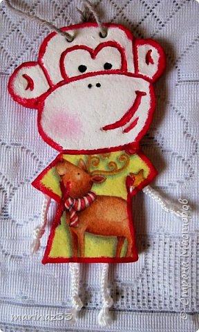 Добрый день!!! В этом году у меня получились вот такие новогодние сувениры.  45 обезьянок. фото 16