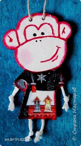 Добрый день!!! В этом году у меня получились вот такие новогодние сувениры.  45 обезьянок. фото 18