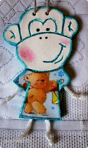 Добрый день!!! В этом году у меня получились вот такие новогодние сувениры.  45 обезьянок. фото 19