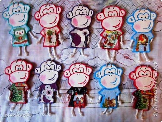 Добрый день!!! В этом году у меня получились вот такие новогодние сувениры.  45 обезьянок. фото 1