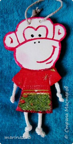 Добрый день!!! В этом году у меня получились вот такие новогодние сувениры.  45 обезьянок. фото 20