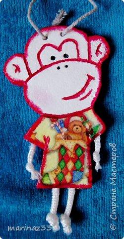 Добрый день!!! В этом году у меня получились вот такие новогодние сувениры.  45 обезьянок. фото 21
