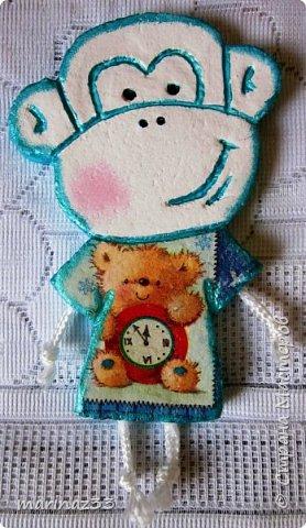 Добрый день!!! В этом году у меня получились вот такие новогодние сувениры.  45 обезьянок. фото 22