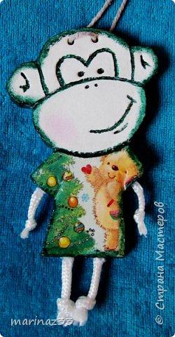 Добрый день!!! В этом году у меня получились вот такие новогодние сувениры.  45 обезьянок. фото 25