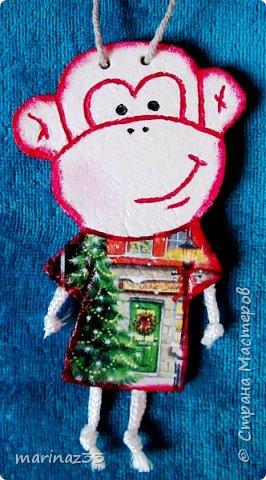 Добрый день!!! В этом году у меня получились вот такие новогодние сувениры.  45 обезьянок. фото 26