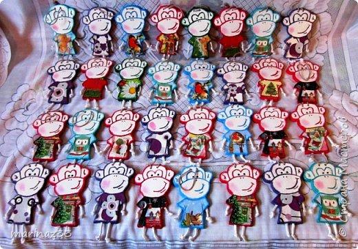 Добрый день!!! В этом году у меня получились вот такие новогодние сувениры.  45 обезьянок. фото 5