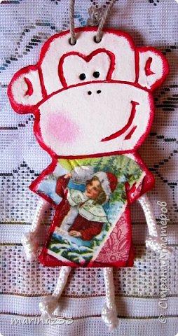 Добрый день!!! В этом году у меня получились вот такие новогодние сувениры.  45 обезьянок. фото 7
