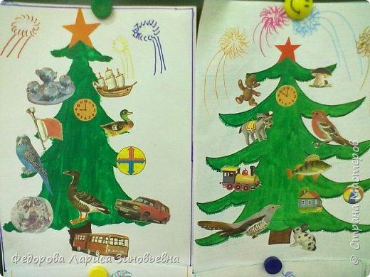 Добрый всем вечер. Скоро. скоро уже наступит Новый год, в каждом доме зажгутся елки. Вот и мы со своими ребятами сделали новогодние елки. Эти елки сделали дети подготовительной группы. фото 4