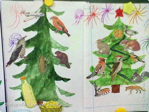 Добрый всем вечер. Скоро. скоро уже наступит Новый год, в каждом доме зажгутся елки. Вот и мы со своими ребятами сделали новогодние елки. Эти елки сделали дети подготовительной группы. фото 5