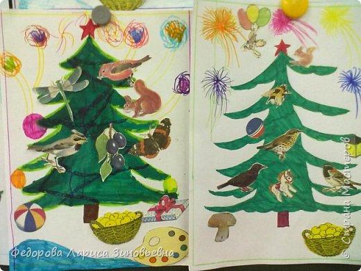 Добрый всем вечер. Скоро. скоро уже наступит Новый год, в каждом доме зажгутся елки. Вот и мы со своими ребятами сделали новогодние елки. Эти елки сделали дети подготовительной группы. фото 6