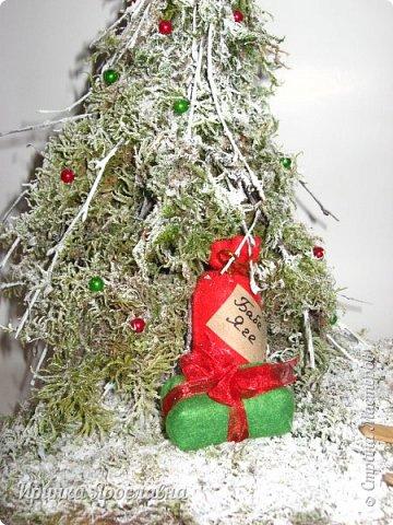"""Здравствуйте, друзья! Вы представляйте, а нашей Бабуле Ягуле Дед Мороз тоже подарил подарочки ( по ходу хорошо себя вела в этом году :-):-)). Пошла она прогуляться по своему сказочному лесу, ааа под ёлочкой подарки лежат и подписано """"Бабе Яге"""":-) Умничка Бабуля Ягуля исправляется, еще и спортсменка, на лыжах:-) фото 6"""