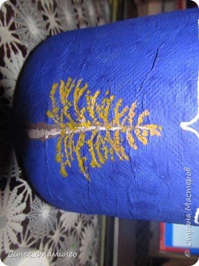 Ностальгия по Крайнему северу и хорошее настроение) Материал-бутылка,у меня с ручкой.Салфетки,ПВА,гуашь,гель с блестками. фото 8