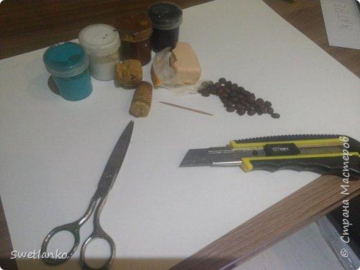 Предлагаю сделать такую кофейную обезьянку, совместив намотку джутовым шпагатом с кофе и лепкой. фото 2