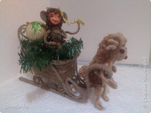Предлагаю сделать такую кофейную обезьянку, совместив намотку джутовым шпагатом с кофе и лепкой. фото 23