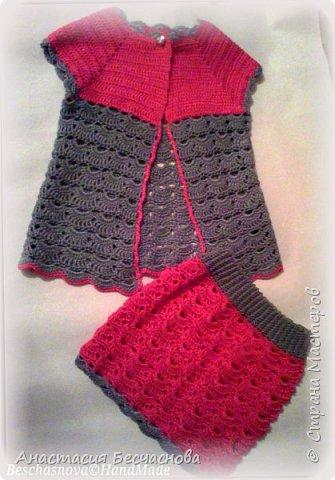 Здравствуйте.Вот решила выставить и свои вязалки.Первое платье на дочери.Нитки Фило ди скозиа 100% хлопок.Расход не помню))) фото 5