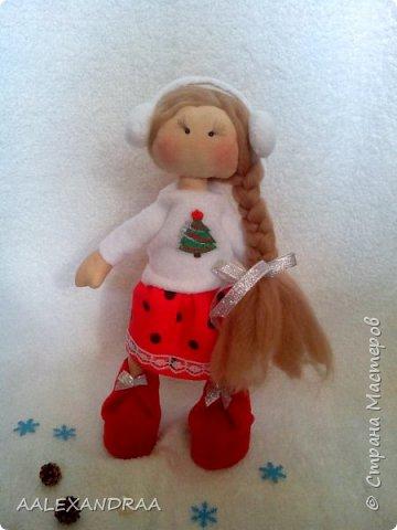 Всем привет! Хочу продемонстрировать изменения одной из моих куколок. Решила куколке нарисовать личико. фото 2