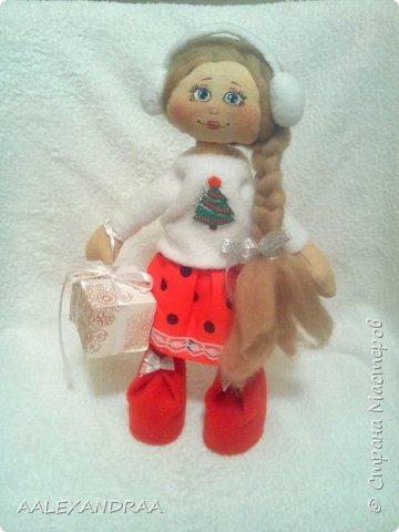 Всем привет! Хочу продемонстрировать изменения одной из моих куколок. Решила куколке нарисовать личико. фото 1