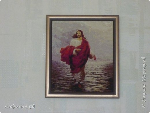 ВЫШИВКА (Христос, идущий по водам)