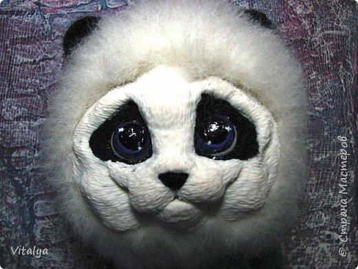 Решила сделать пандочку по МК Елены Смирновой. Только вот мордочку панды слепила из полимерной глины.  фото 3