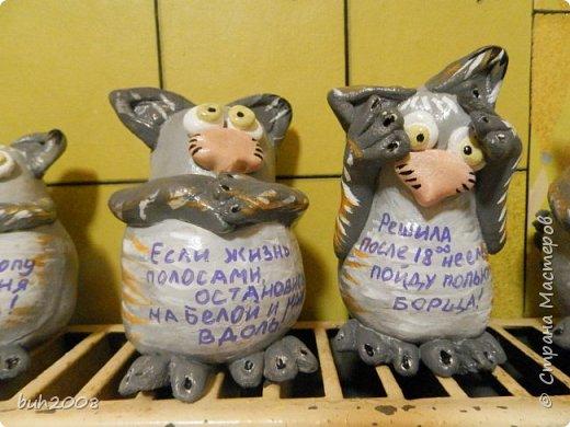 Идея котов увидена мною у кого то в стране мастеров, но там они плоские а я решила сделать их объемными. Коты конечно не очень похожи сами на себя, но как-то так. фото 4