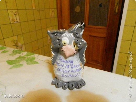 Идея котов увидена мною у кого то в стране мастеров, но там они плоские а я решила сделать их объемными. Коты конечно не очень похожи сами на себя, но как-то так. фото 9