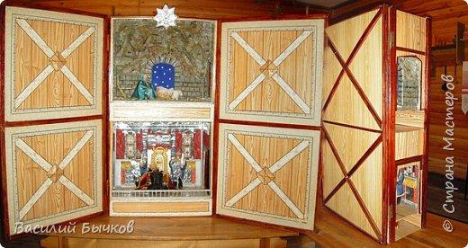 Рождественский двухярусный настольный театр для вертепного представления. фото 2
