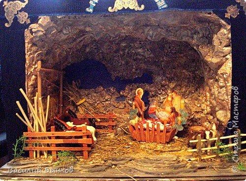 Рождественский двухярусный настольный театр для вертепного представления. фото 3