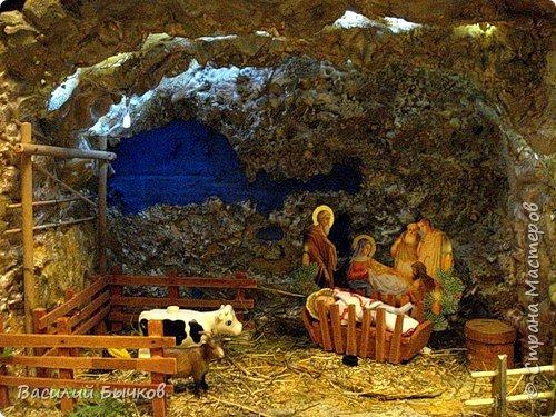 Рождественский двухярусный настольный театр для вертепного представления. фото 4