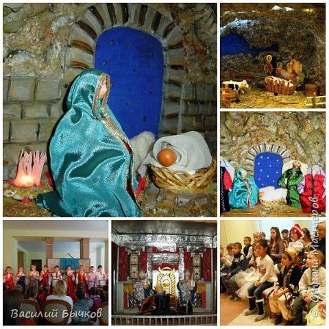 Рождественский двухярусный настольный театр для вертепного представления. фото 5