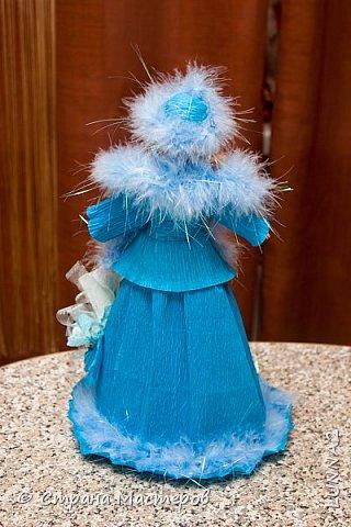 Снегурочка сделана на конкурс в детский сад.  фото 2