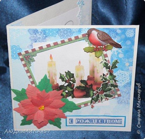 Здравствуй,Страна Мастеров! У меня рождественские открытки с рамочками. фото 10