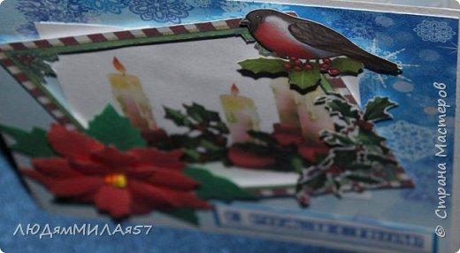 Здравствуй,Страна Мастеров! У меня рождественские открытки с рамочками. фото 13