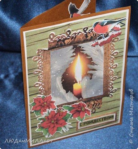 Здравствуй,Страна Мастеров! У меня рождественские открытки с рамочками. фото 8