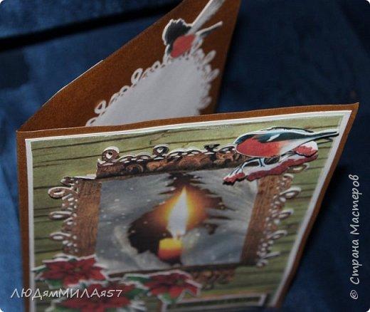 Здравствуй,Страна Мастеров! У меня рождественские открытки с рамочками. фото 5